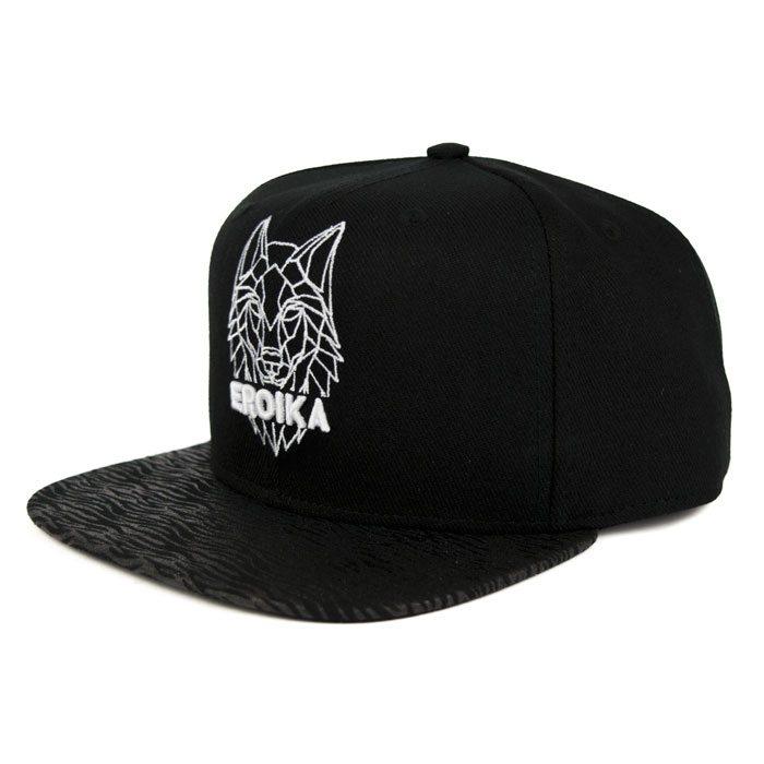 Boné 6 gomos - Wolfline aba reta   EROIKA CAPS